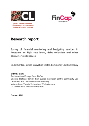 Report: Survey of financial mentoring and budgeting services in Aotearoa